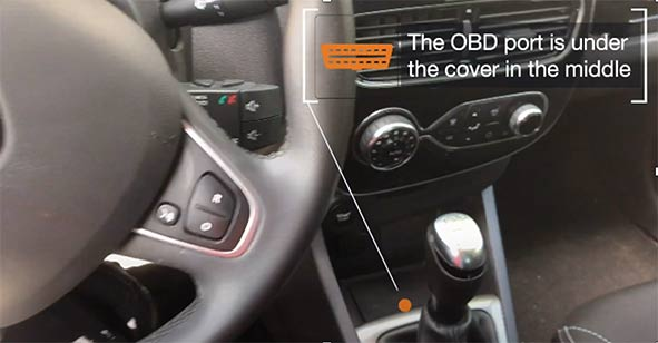 Where is the OBD2 port in my Renault Clio 4