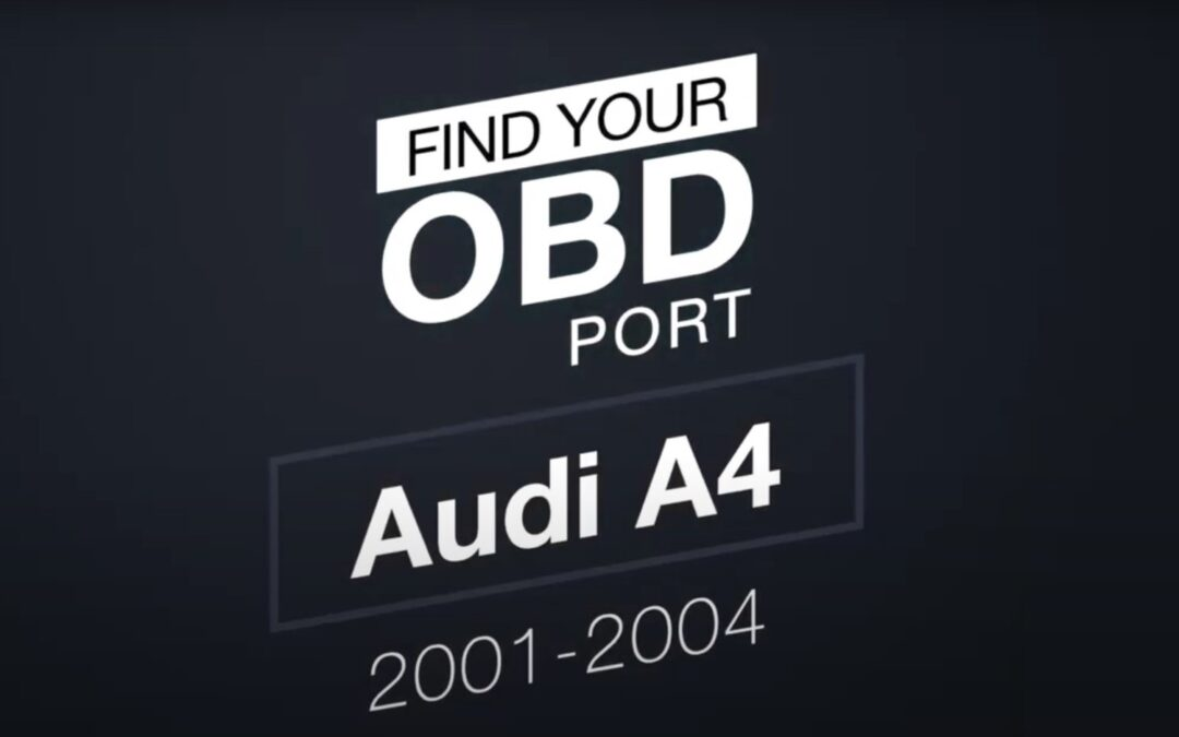 Where is the OBD2 port in my Audi A4