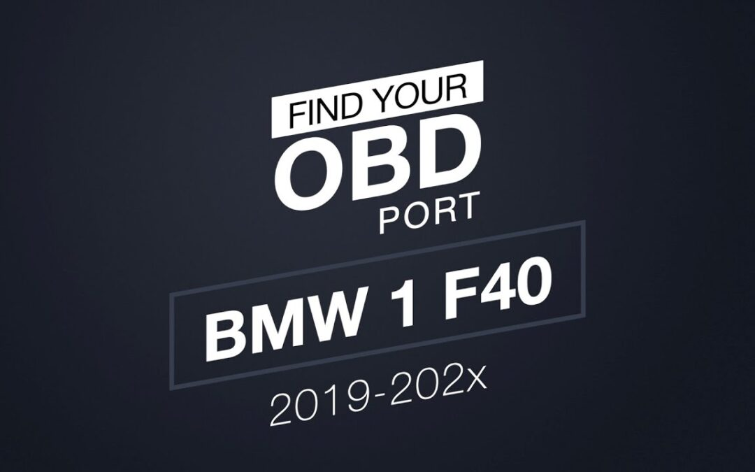 Where is the OBD2 port in my BMW 1 F40